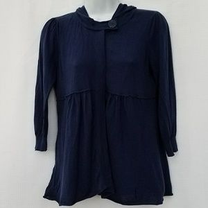 Anthropology Moth Button Up Hooded Sweater Size M